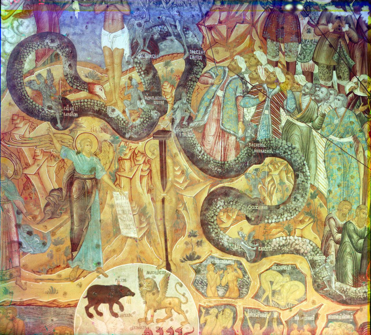 Церковь Спаса на сенях. Часть стенной живописи