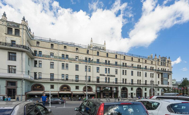 Гостиница Метрополь. Западный фасад.