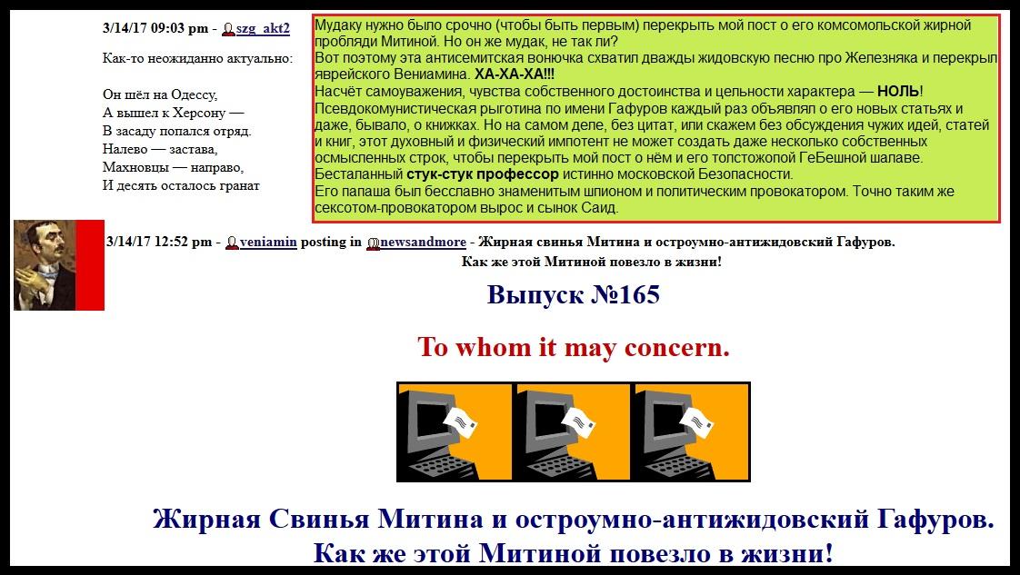Гафуров, Митина,  жопа, провокатор, перекрытие
