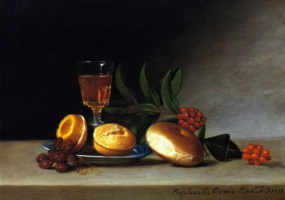 Рафаэль Пил. Натюрморт с рюмкой вина. 1818