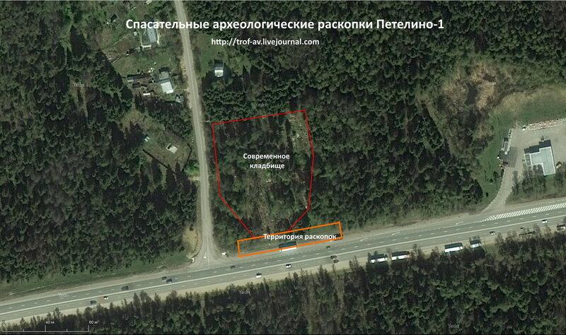 План спасательных археологических раскопок Петелино-1