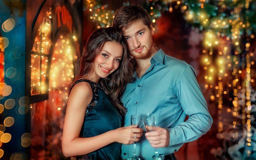 Новый год, праздник, люди, поздравления, любовь, счастье