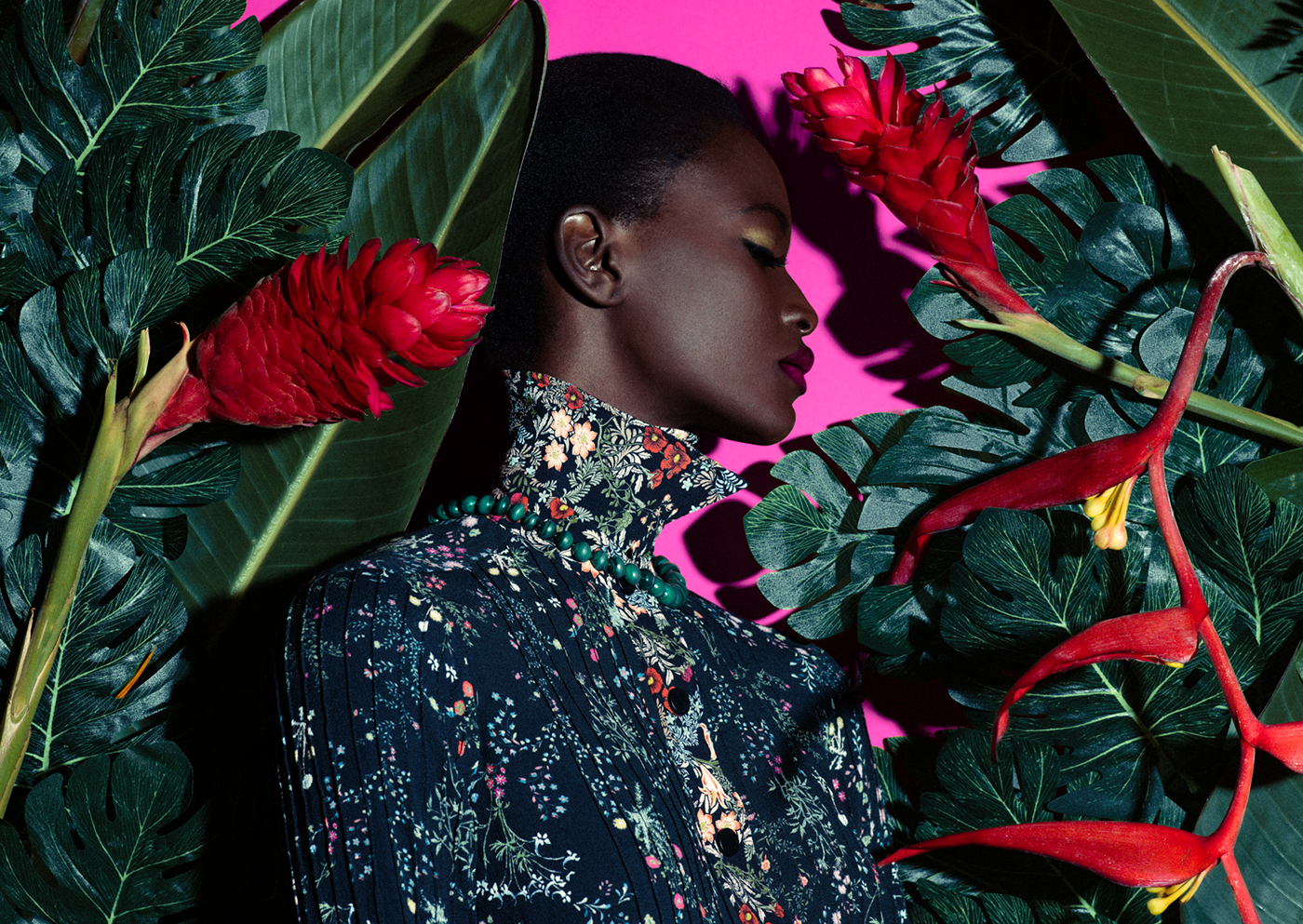 Jardin Fluo / фото Elena Iv-skaya модель Oulimata Gallet