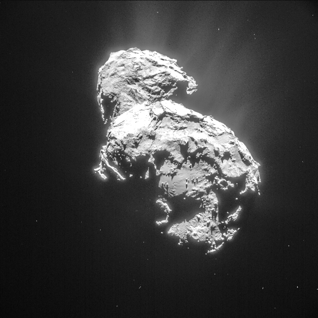 Комета Чурюмова Герасименко Comet 67P C-G 06.03.2015 NavCam