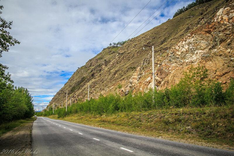 Дорога между Северобайкальском и Нижнеангарском