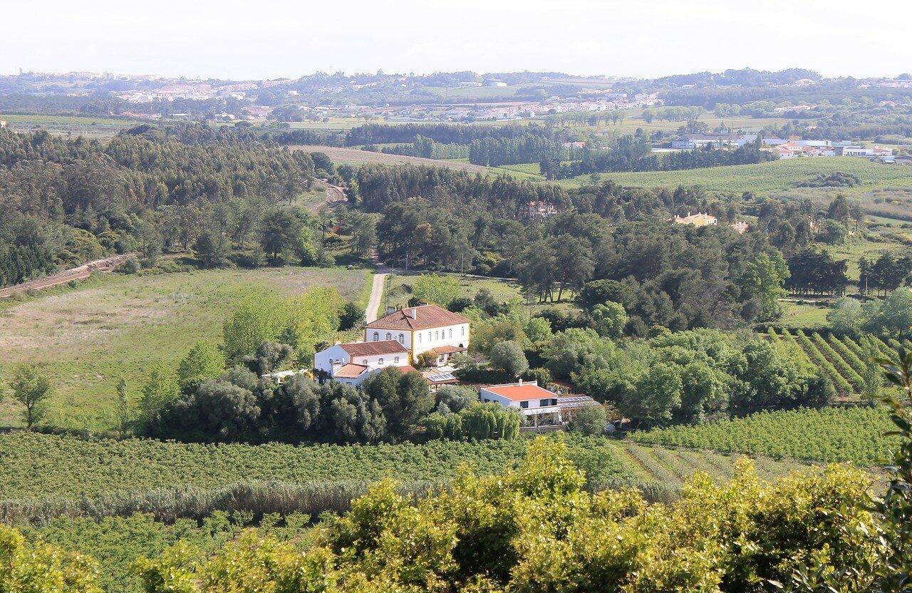 Вид из замка Обидуш (Castelo de Obidos)