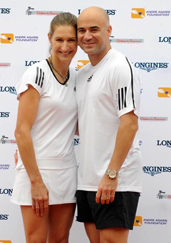 Андре Агасси и Штеффи Граф. (Sipa Press / AP Photo) Муж и жена теннисисты — что может быть проще, од