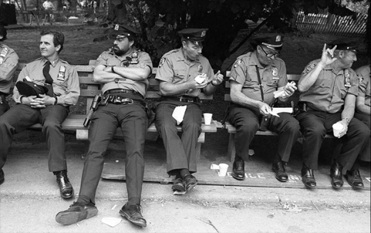 Полицейские, Центральный парк, 1982.