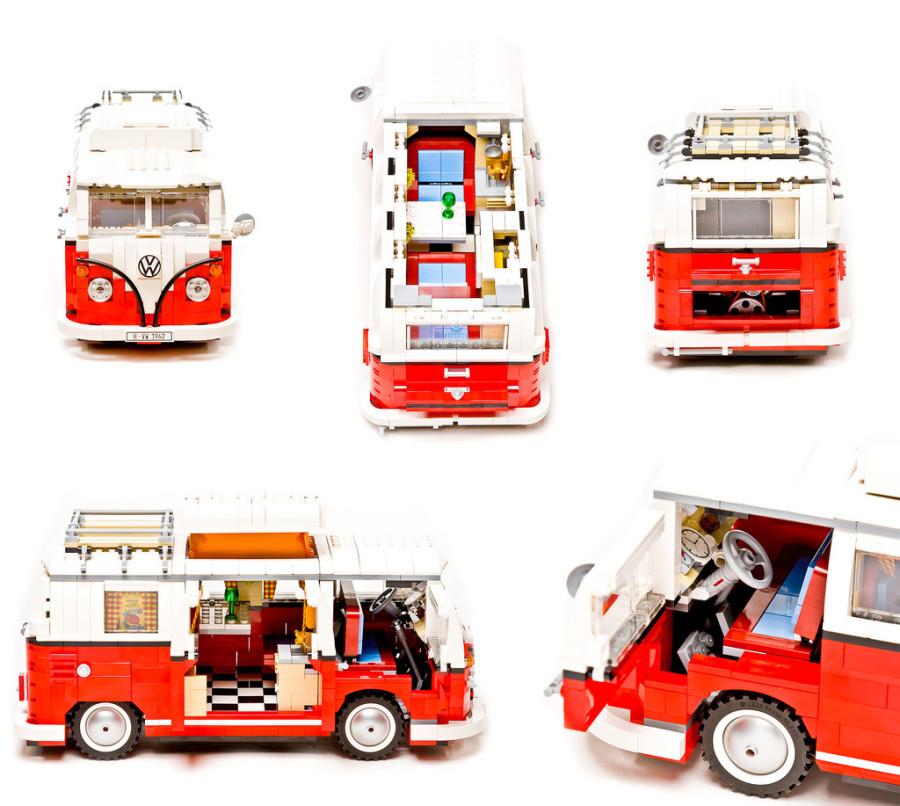 12. Volkwagen T1 Camper Van Эта эксклюзивная лего-модель поражает своей детализацией. Если вам нравя