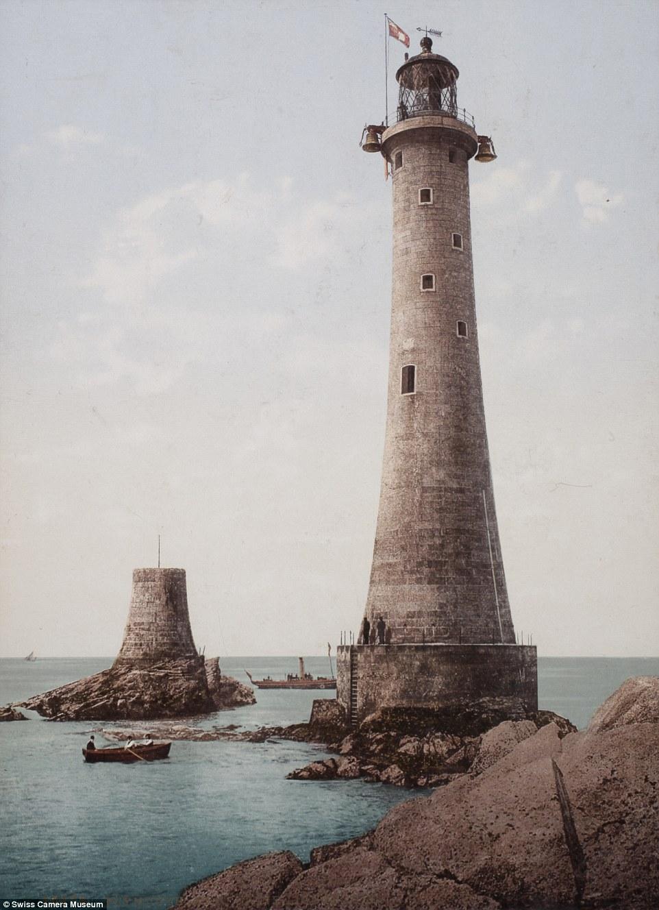 Маяк Эддистон, Плимут, Англия, между 1889 и 1911.