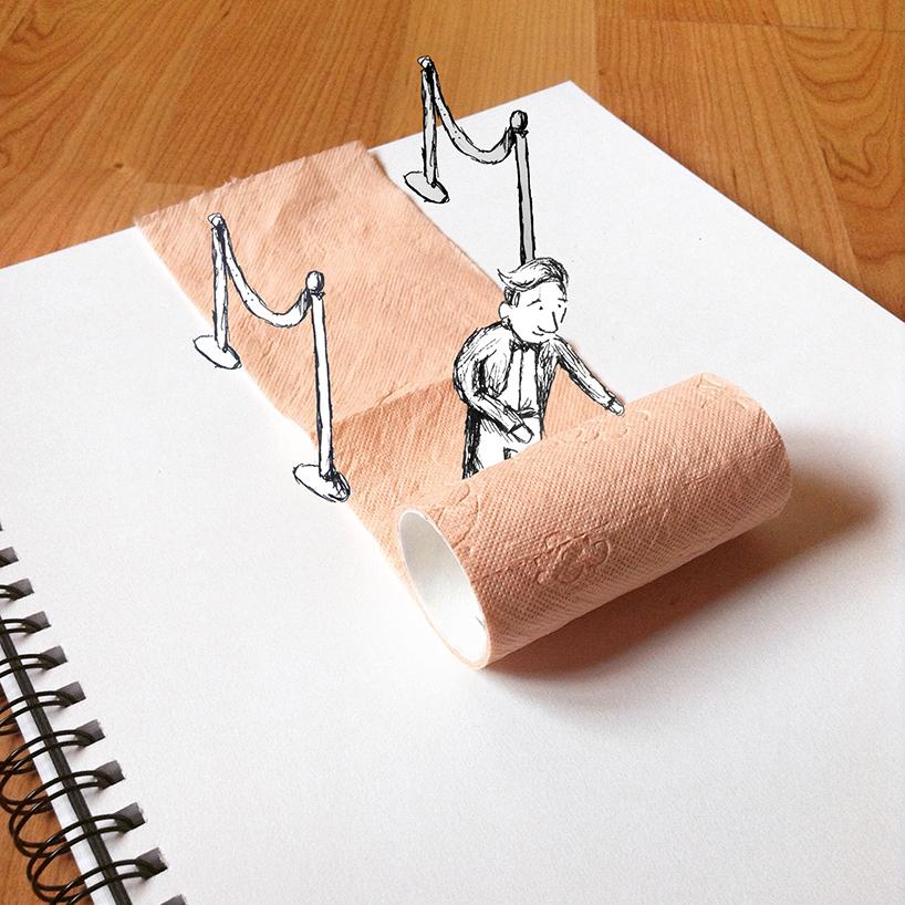 Физические предметы как элементы в рисунке от Kristian Mensa