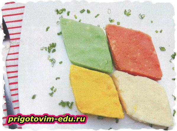 Разноцветное картофельное пюре