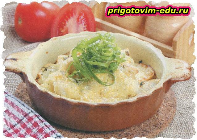 Картофельный гратен с рыбой