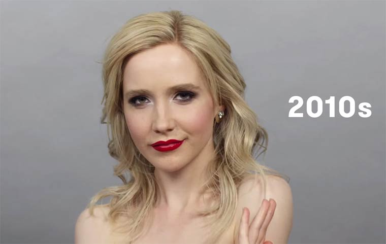 100 years of beauty in one minute – The evolution of style in Russia
