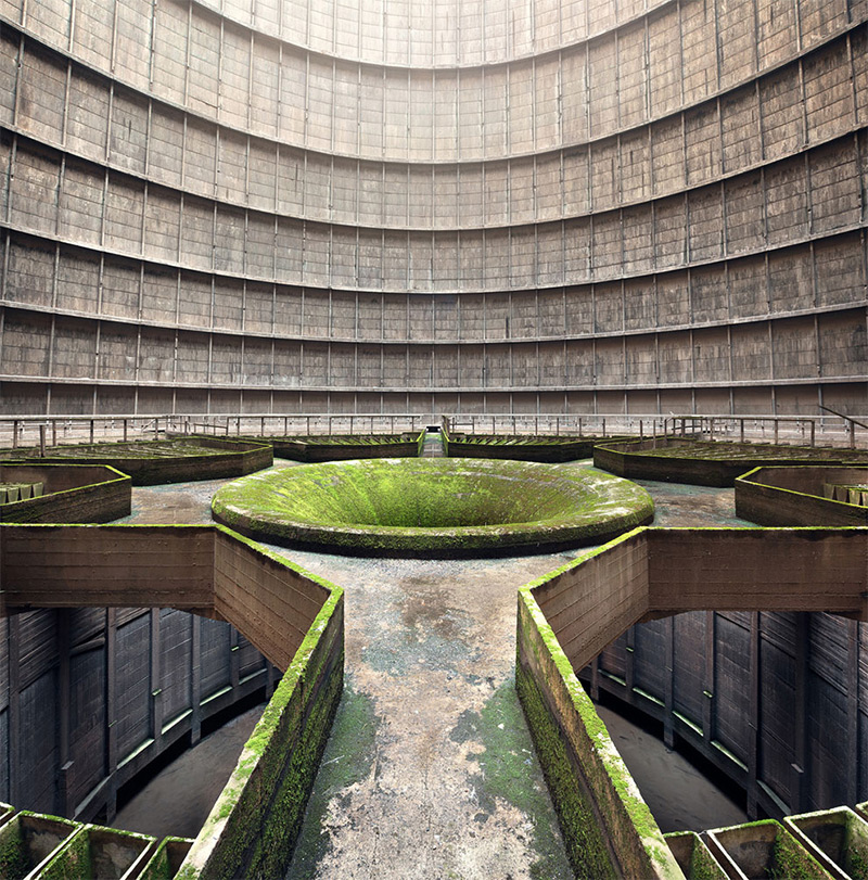 Interior of an abandoned cooling tower. © Jan Stel, 2014 Sony World Photography Awards.