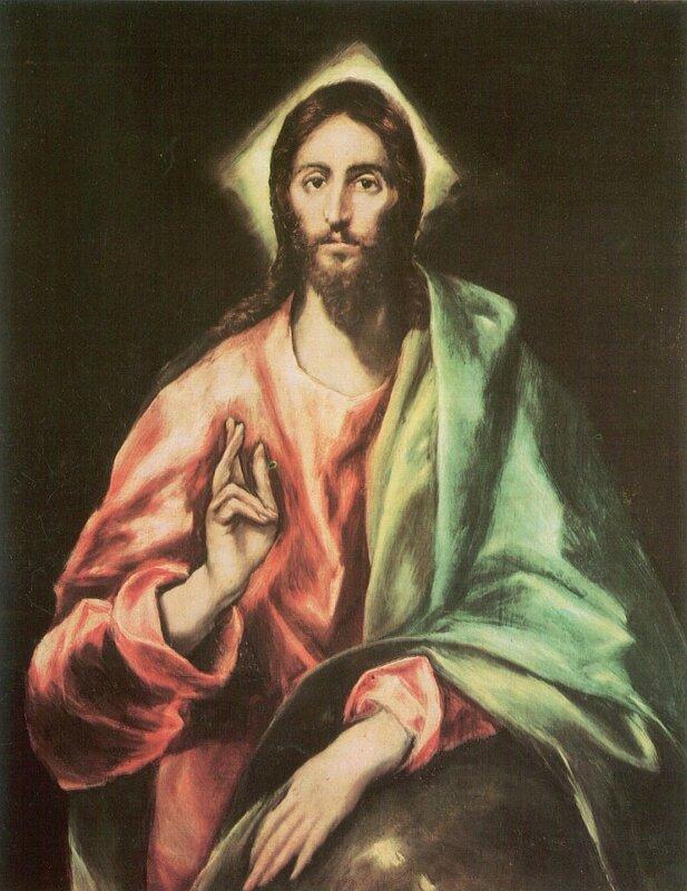 Эль Греко, Христос Спаситель мира (Христос благословляющий), 1610, холст, масло