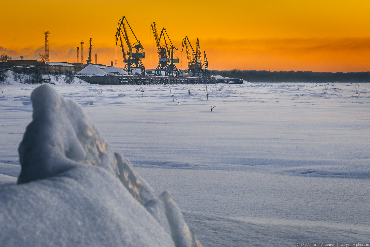 Самара и Волга зимой