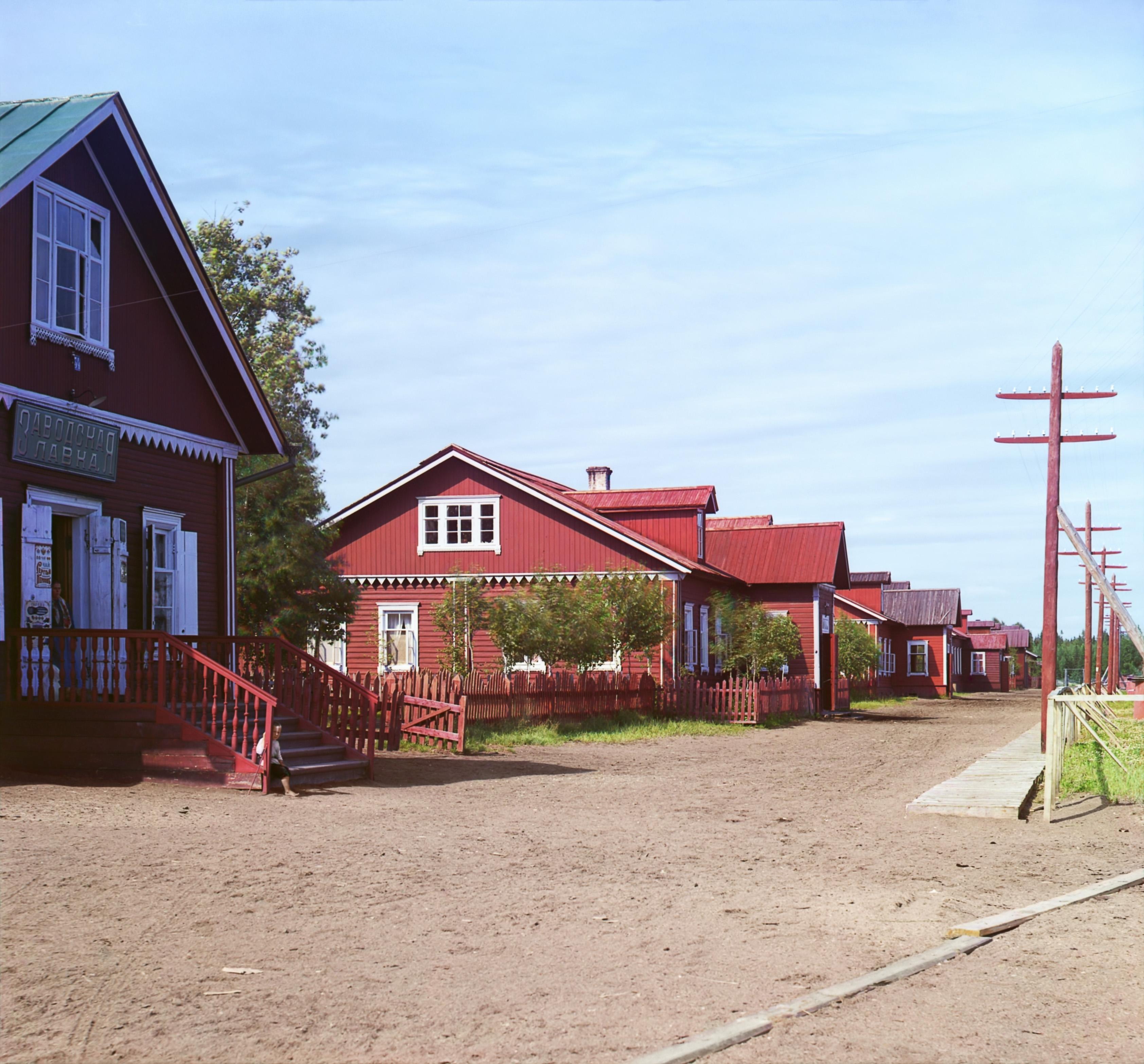 Ковжинский лесопильный завод. Жилые заводские постройки