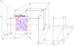 МИТХТ, углы наклона плоскости параллелограмма, построение проекций