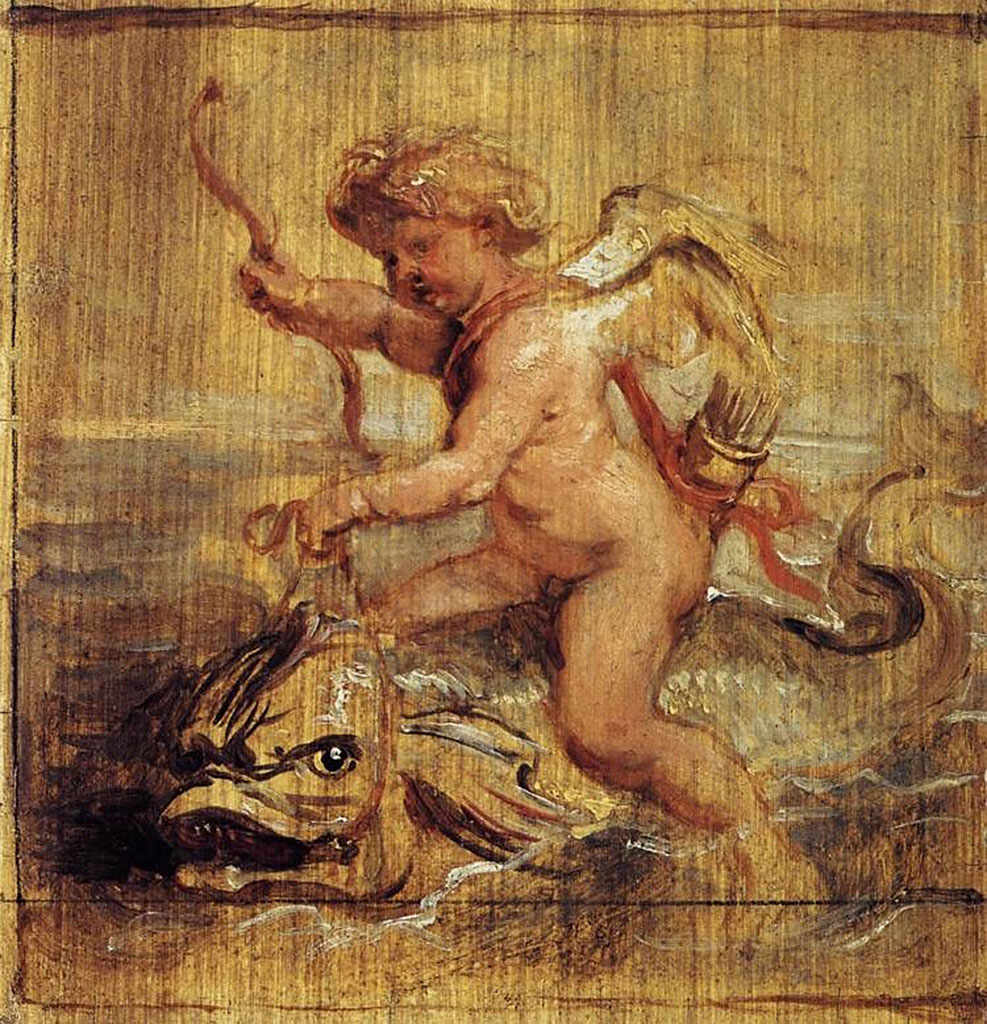 Cupid Riding a Dolphin, 1636_Peter Paul Rubens(1577-1640).