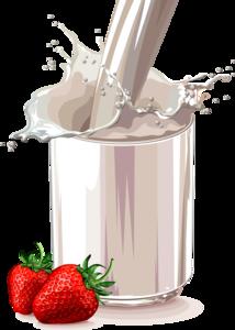 клубника в молоке