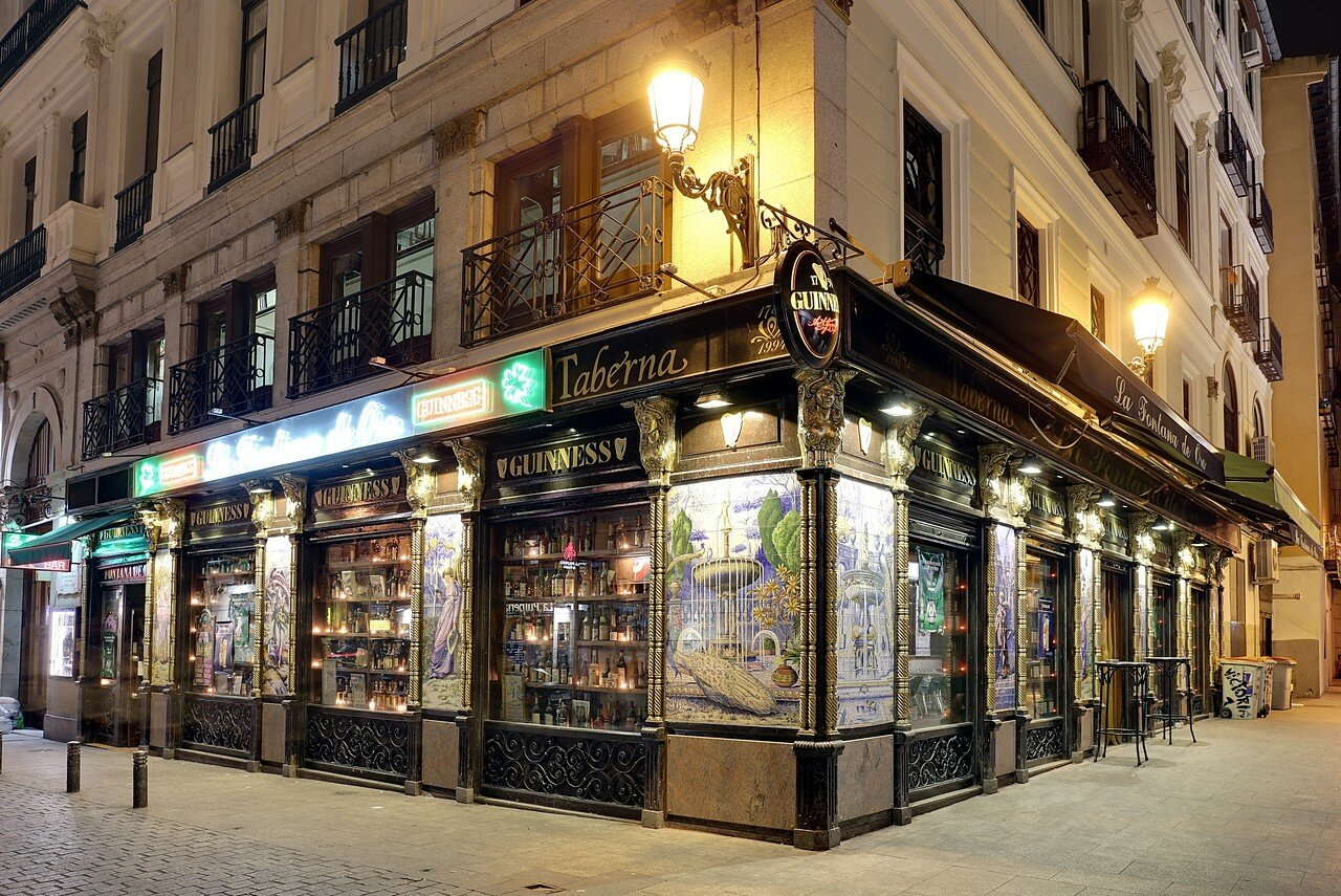 Ночной Мадрид. Таверна Guinness