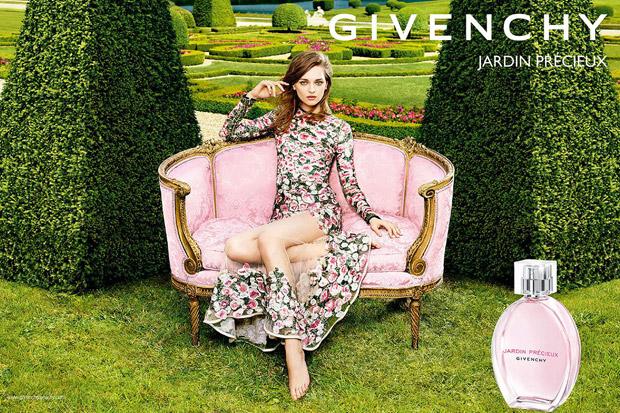 Дага Жьобер (Daga Ziober) в рекламной фотосессии для Givenchy Jardin Precieux