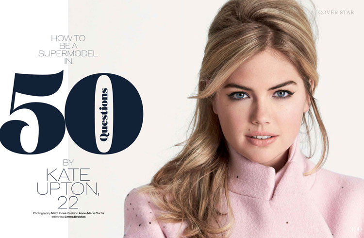 Кейт Аптон в журнале Elle UK