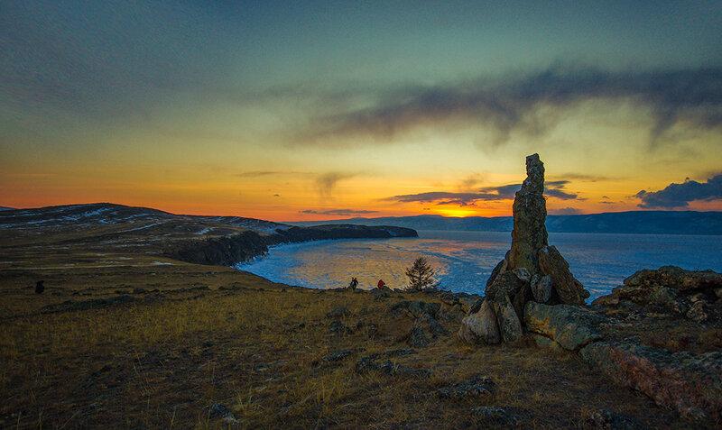 Закат над Байкалом