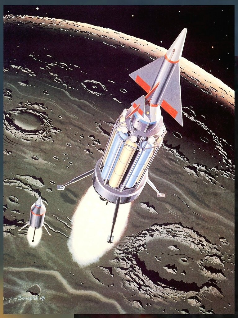 Чесли Боунстелл. Американский художник. QMan_CB_TAOCB_2133_Descent_to_the_Moon.jpg