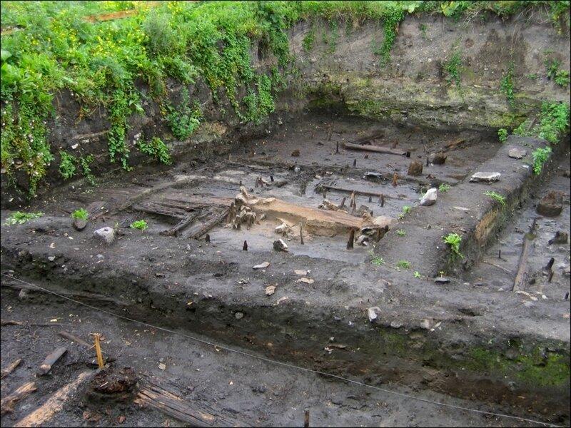 Раскоп в Старой Ладоге