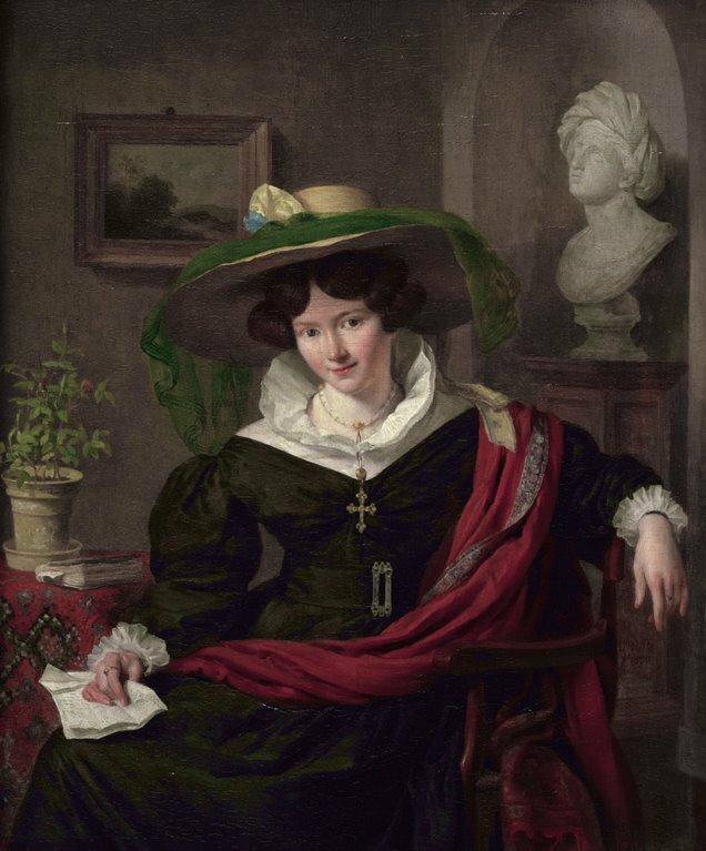 Carolina Frederica Kerst, de echtgenote van de beeldhouwer Louis Royer.