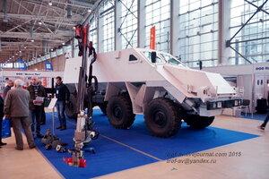 Высокозащищенный комплекс гуманитарного разминирования Искатель, Выставка Комплексная безопасность 2015, Москва