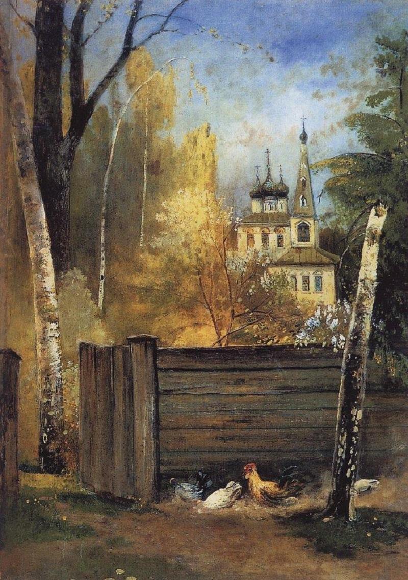 Весна. Провинциальный дворик, 1880-1890-е.jpg