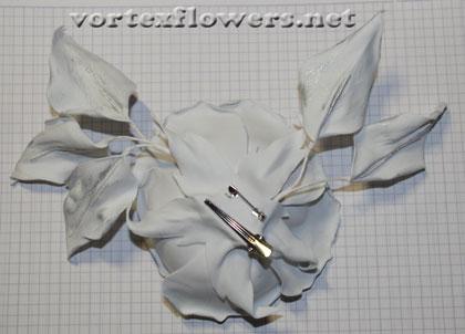 белая роза из фоамирана мк