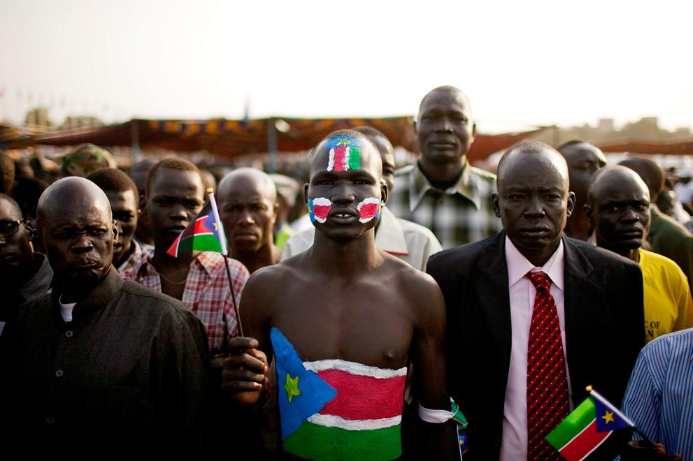 20. Жители Южного Судана на празднике в столице Джубе. (AP Photo/Pete Muller)