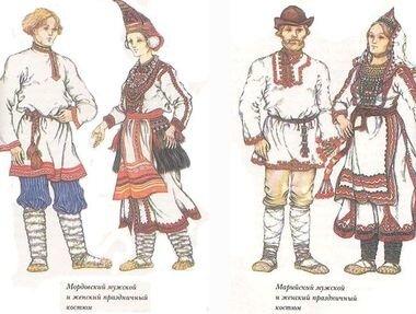 Свадьбы в селениях мордвы и марийцев (народы Волго-Камья)