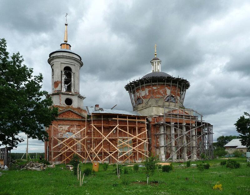 Петровское, Ильинская церковь, 19 век