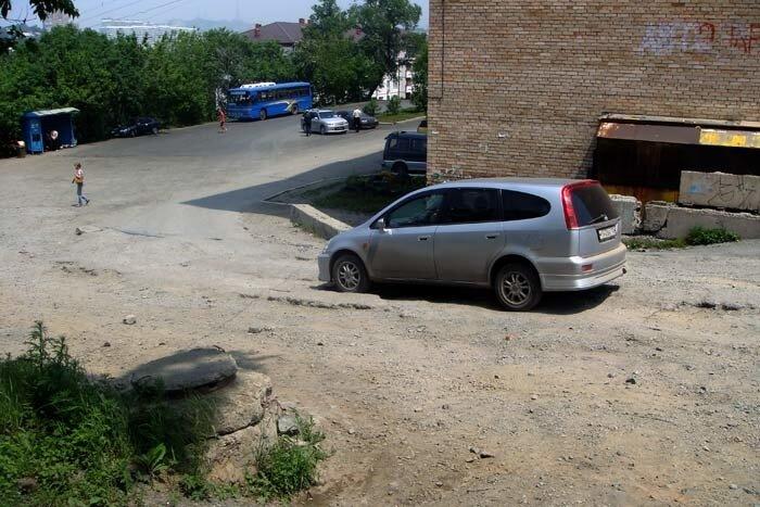 Владивосток, конечная остановка автобуса на Змеинке