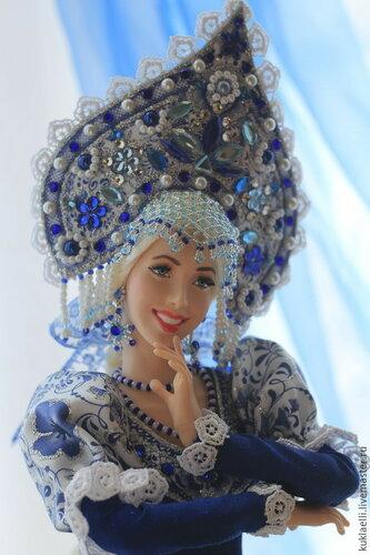 Куклы в русских костюмах для интерьера