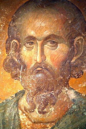 Святой мученик Савва Стратилат. Фреска церкви монастыря Хора в Константинополе. 1315-1321 годы.