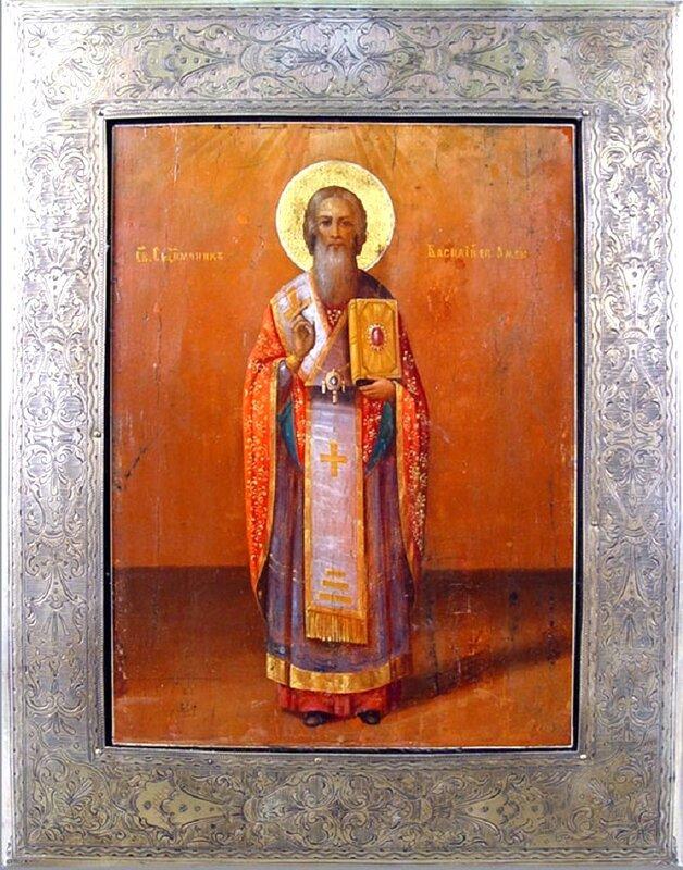 Священномученик Василий, Епископ Амасийский. Икона XIX века.