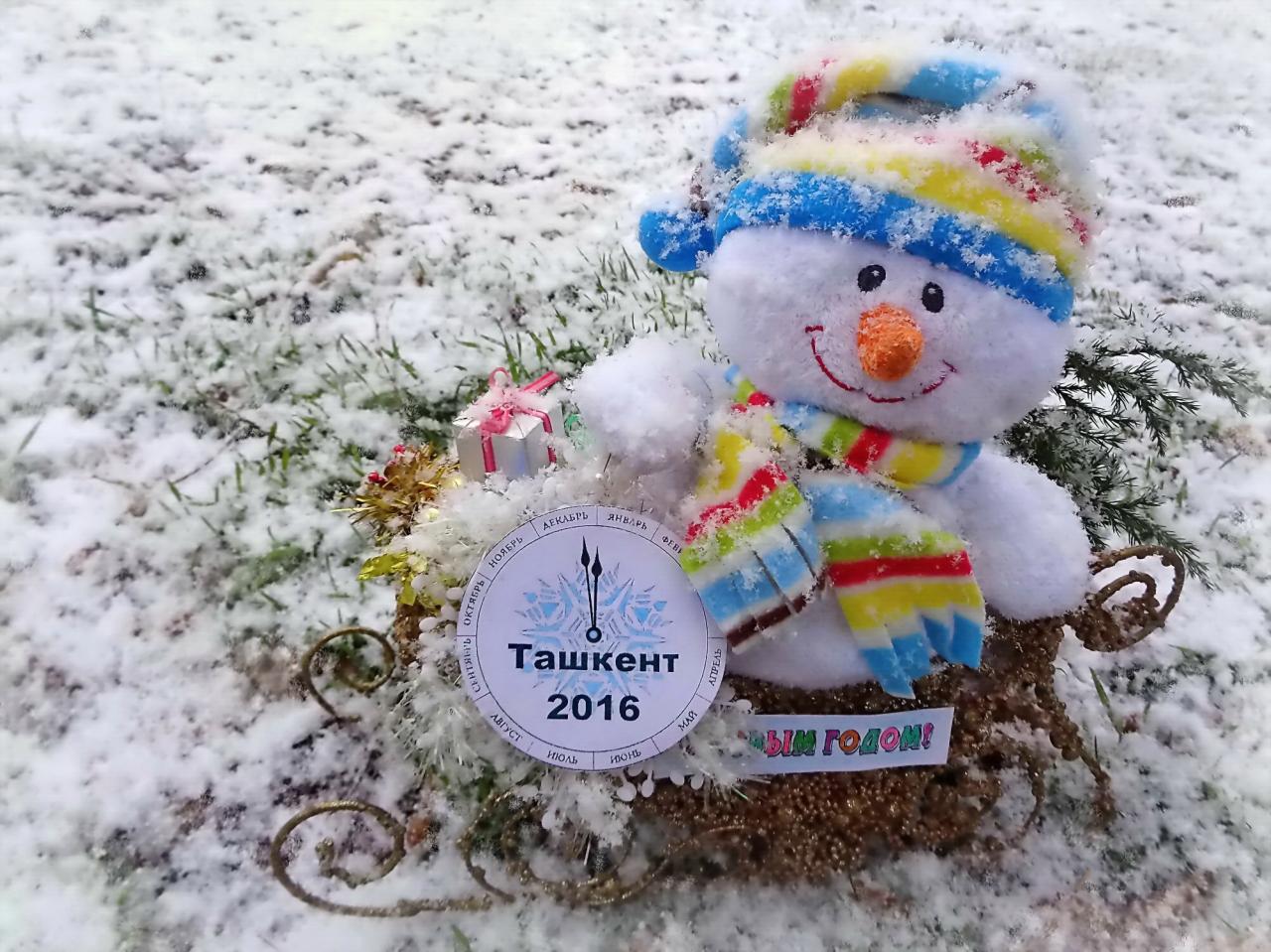 Ташкент всех поздравляет с наступающим Новым годом!