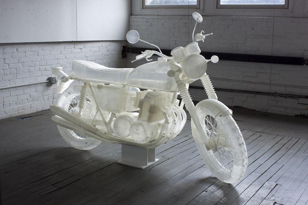 Фанат сделал копию Honda CB500 на 3D-принтере