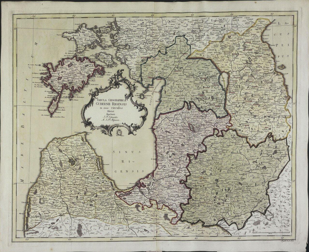 1750. Карта Рижской губернии
