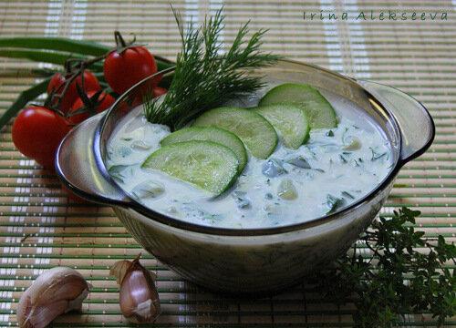 Готовим супы в жаркую погоду! Холодный суп на кефире
