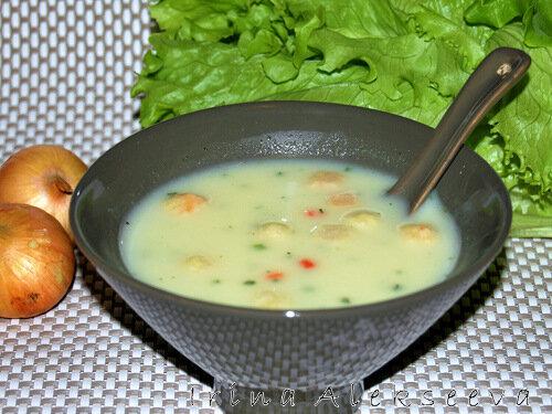 Готовим супы в жаркую погоду! Крем-суп с гренками