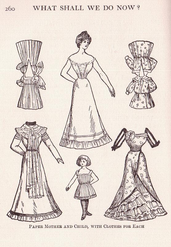 идеи для бумажных кукол - винтажные сканы