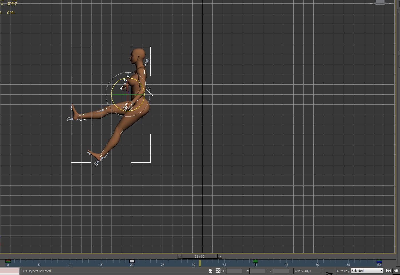 Базовая скелетная анимация персонажа в 3Ds max 2010