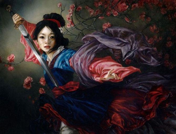 Художница Хизер Тойрер показала, как выглядят диснеевские принцессы персонажами классических картин